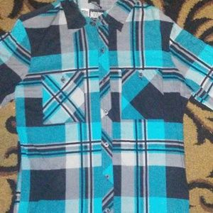 social collision Checkered Shirt long sleeve